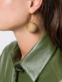 Jil Sander round pendant earrings