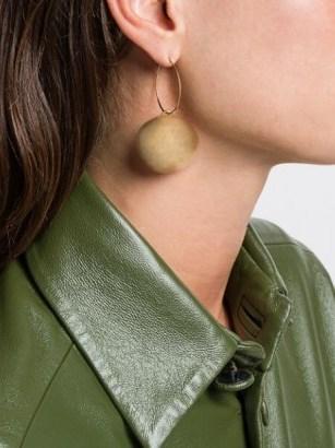 Jil Sander round pendant earrings - flipped