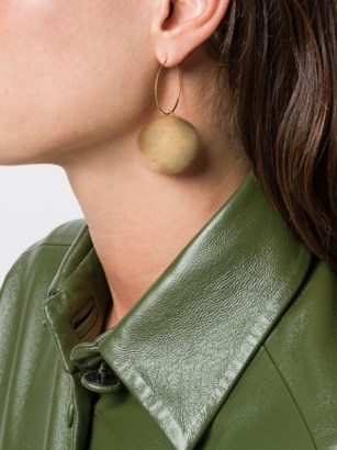 Jil Sander round pendant earrings