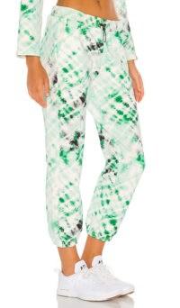 KORAL Oblivion Dive Sweatpant Emerald Tie Dye ~ cuffed hem sweatpants ~ drawstring jogging bottoms
