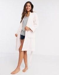 LAUREN by Ralph Lauren greenwich robe in dusky pink ~ tie waist robes ~ shawl collar dressing gown
