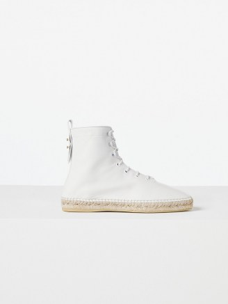 FRAME Le Boston Espadrille Blanc | white jute sole lace up booties