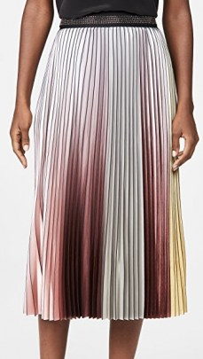 Le Superbe The Whiskey Skirt | pleated ombre skirts - flipped