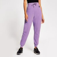 RIVER ISLAND Lilac Branded RR tie waist jogger – light purple joggers