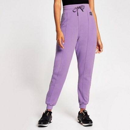 RIVER ISLAND Lilac Branded RR tie waist jogger – light purple joggers