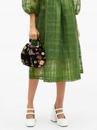 SHRIMPS Louisa floral-beaded velvet handbag – vintage look bags