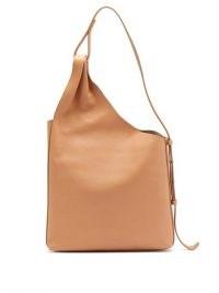 AESTHER EKME Lune leather tote bag / asymmetric handbags / beige bags
