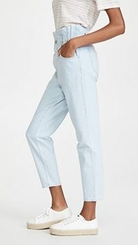 Madewell Classic Straight Paperbag Jeans Broomfield Wash ~ light blue high waist denim jean
