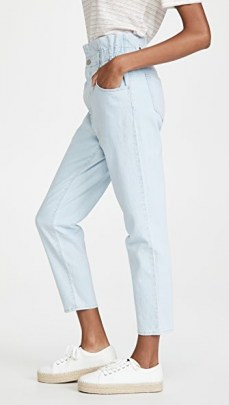 Madewell Classic Straight Paperbag Jeans Broomfield Wash ~ light blue high waist denim jean