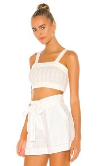 MAJORELLE Amalia Knit Tank | white crop tops