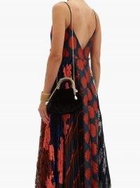 ROSANTICA Maria Luisa chain-handle velvet clutch in black – luxe evening bags