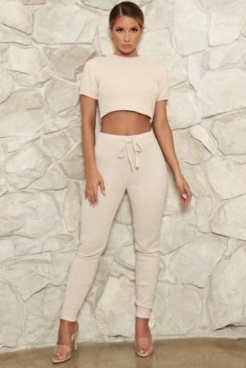 MESHKI AISHA Chenille Leggings ~ casual fitted lounge fashion ~ loungewear - flipped