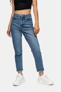 Topshop Mid Blue 2 Million Mom Jeans