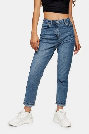 Topshop Mid Blue 2 Million Mom Jeans - flipped