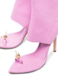 Natasha Zinko Rabbit Toe 110mm ankle boots ~ pink cut away boots