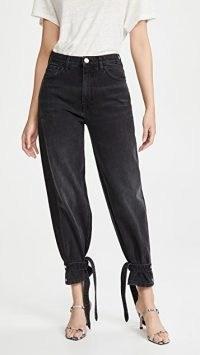 ONE by PINKO Maddie Jeans | black denim anke tie jeans