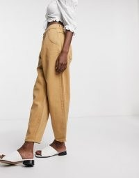 Only balloon fit jeans in brown | denim fashion