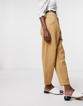 Only balloon fit jeans in brown | denim fashion - flipped