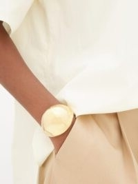BOTTEGA VENETA Open dome cuff ~ contemporary cuffs ~ luxe accessory
