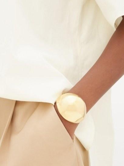 BOTTEGA VENETA Open dome cuff ~ contemporary cuffs ~ luxe accessory - flipped