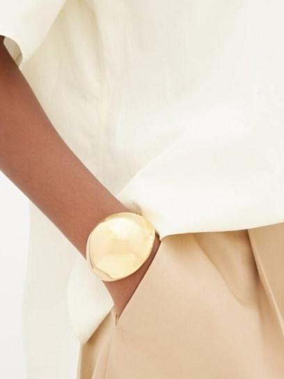BOTTEGA VENETA Open dome cuff ~ contemporary cuffs ~ luxe accessory