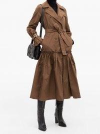 MAX MARA Osol coat – brown flared coats – autumn colours