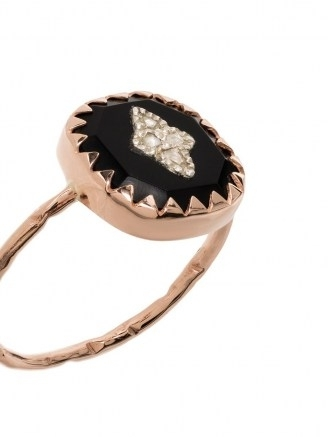Pascale Monvoisin 9kt rose gold Pierrot diamond ring ~ diamond accent rings