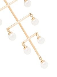Persée 18kt yellow gold pearl earrings ~ long statement drops ~ peals ~ contemporary jewellery