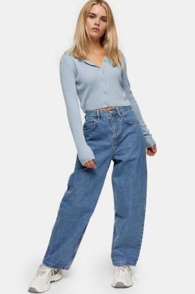 Topshop PETITE Mid Stone Baggy Jeans | 80s look denim