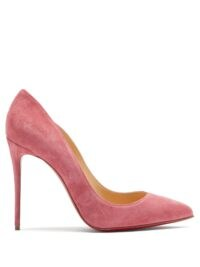 CHRISTIAN LOUBOUTIN Pigalle Follies 100 pink suede pumps ~ high stiletto heels ~ luxe court shoes ~ signature red sole courts