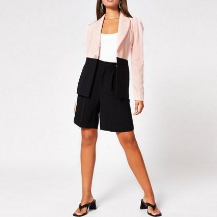RIVER ISLAND Pink Block Blazer ~ colourblock blazers - flipped
