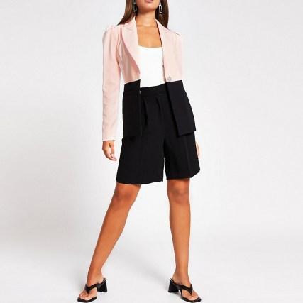 RIVER ISLAND Pink Block Blazer ~ colourblock blazers