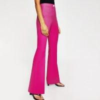 RIVER ISLAND Pink flare fitted trousers ~ bright trouser suit flares