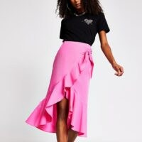 River Island Black taffeta frill mini skirt | bright ruffled skirts
