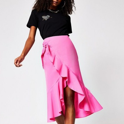 River Island Black taffeta frill mini skirt | bright ruffled skirts - flipped