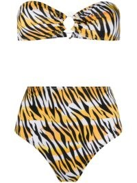 Reina Olga Hutton tiger print bikini in – high waisted bandeau bikinis
