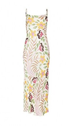 Rhode Jemima Dress Thread Embroidery ~ spaghetti strap floral dresses ~ strappy scoop back - flipped