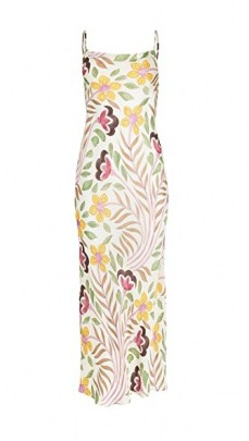 Rhode Jemima Dress Thread Embroidery ~ spaghetti strap floral dresses ~ strappy scoop back