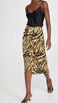 Ronny Kobo Miranda Skirt Marigold Multi ~ asymmetric tiger print skirts ~ wrap style