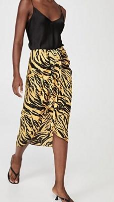 Ronny Kobo Miranda Skirt Marigold Multi ~ asymmetric tiger print skirts ~ wrap style - flipped