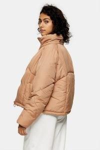 TOPSHOP Rose Pink Padded Puffer Jacket ~ warm winter jackets