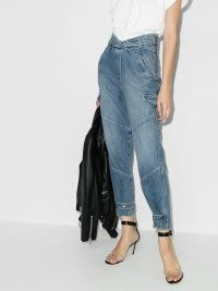 RtA Dallas tapered jeans ~ contemporary blue denim ~ crop leg