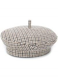 Ruslan Baginskiy houndstooth pattern beret / checked berets / autumn hats