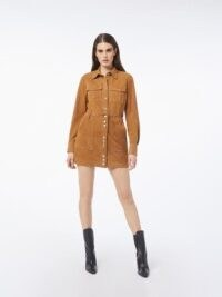 FRAME 70s Studded Suede Shirt Whiskey | tan brown vintage look shirts