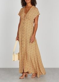 SAMSØE SAMSØE Valerie floral-print maxi dress / dolman cap sleeve dresses