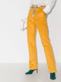 See by Chloé corduroy bootcut trousers mustard yellow | 70s look cords