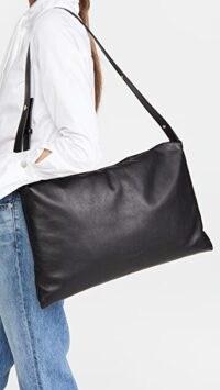 Simon Miller Large Puffin Bag Black ~ oblong lrather shoulder bags