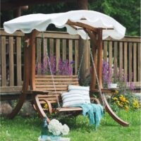 Ameesha Wooden Garden Swing Seat by Sol 72 Outdoor – a pretty outdoor swing seat