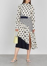 STELLA MCCARTNEY Amora ivory printed silk midi dress / mixed fruit prints