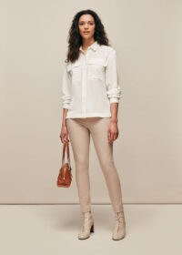 WHISTLES SUPER STRETCH TROUSER STONE / neutral skinny trousers
